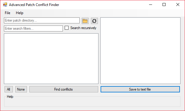 Advanced Patch Conflict Finder